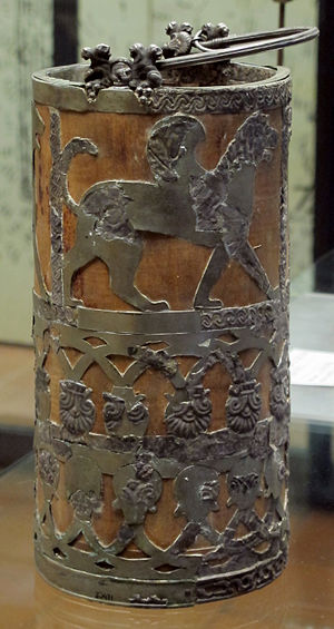 Regolini-Galassi tomb - Silver vessel, 650 BC
