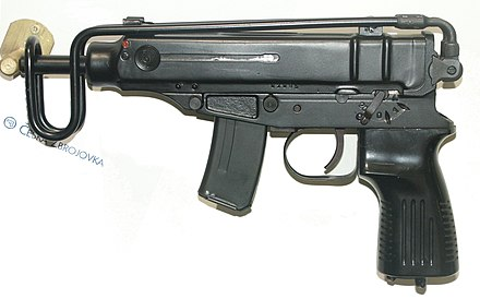 Czechoslovak 7.65 mm submachine gun Skorpion vz. 61 designed in 1959. Skorpion PICT0107.jpg