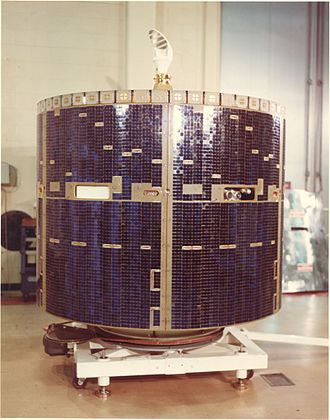 Skynet (satellite) - The second and last Skynet II satellite is unpacked at Cape Canaveral for launch processing Oct. 3, 1974. It was successfully launched Nov. 22, 1974. (USAF photo)