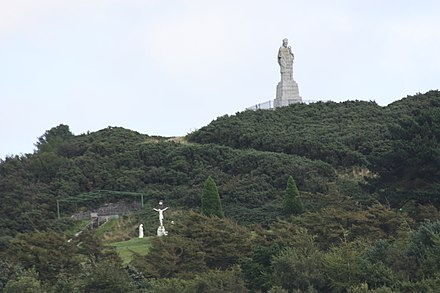 Saint Patrick's statue at Saul, County Down Slieve Patrick, August 2009.JPG