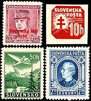 Slovakia1939 1945stamps