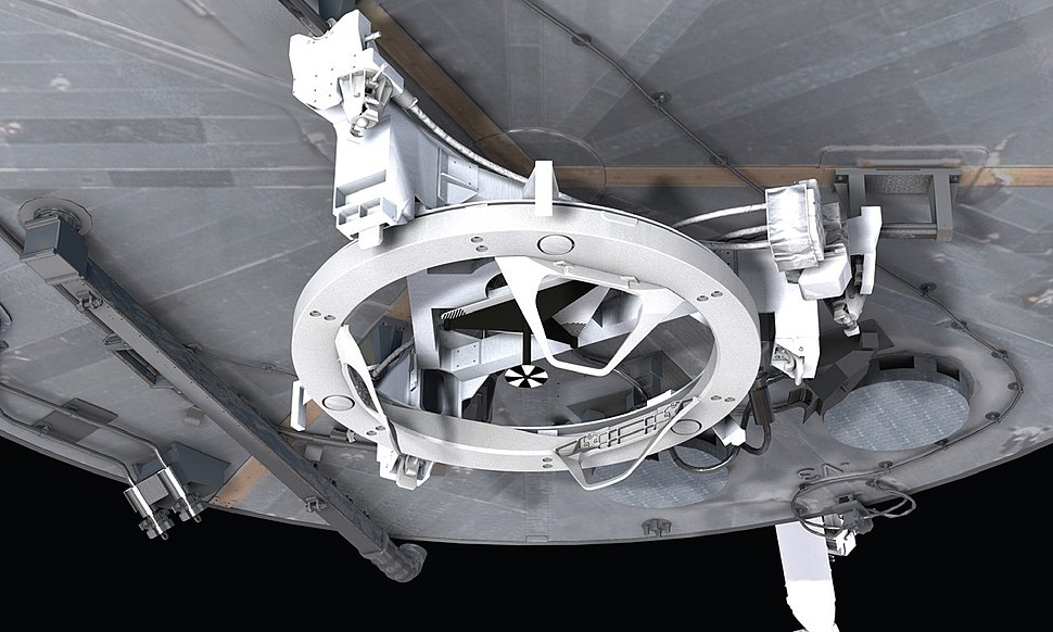 Soft Capture Mechanism installed on Hubble (illustration)
