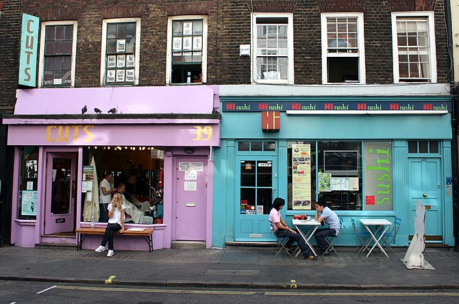 Soho is famous for start-up business in the creative industries