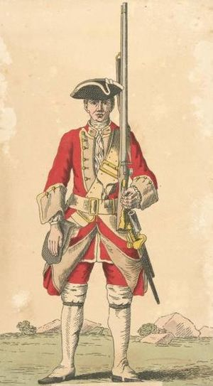 27th (Inniskilling) Regiment of Foot - Soldier of 27th regiment, 1742