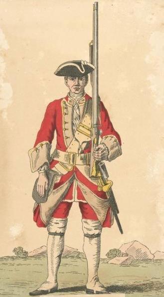 Soldier of 27th regiment 1742