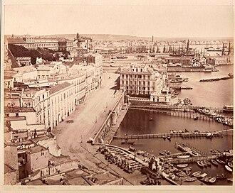 Borgo Santa Lucia - The high part of Santa Lucia street in 1865