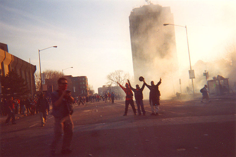 File:Sommet des Ameriques Summit of the Americas Quebec City 2001 Protests.jpg