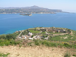 Souda Bay - Souda Bay inlet, with the Izzeddin Fortress in the foreground
