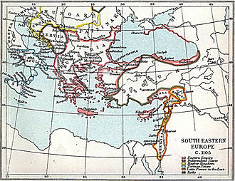 Manuel Boutoumites - The Byzantine Empire and the Eastern Mediterranean circa 1105.