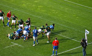 South Africa - Samoa RWC 2007 refused try.jpg