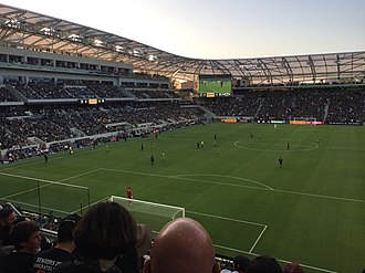 Banc of California Stadium - The west and north sides during the home opener