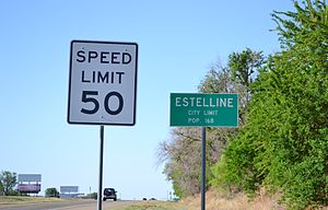 Estelline, Texas - Image: Southhwy 287