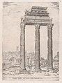 Speculum Romanae Magnificentiae- Portico of the Temple of Julius MET DP870262.jpg