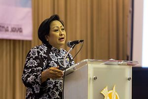 Sri Adiningsih speaking at the 9th International Indonesia Forum 03.jpg
