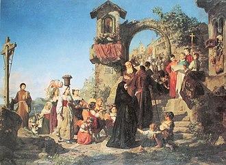 Ernst Stückelberg (painter) - Wedding Day in the Sabine Hills