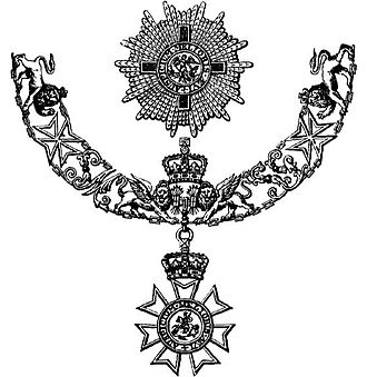 2000 New Year Honours - The insignia of the Grand Cross of the Order of St Michael and St George: Andrew Wood was awarded the Grand Cross in this Honours list.