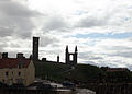 St Andrews - cathedral from the port.JPG