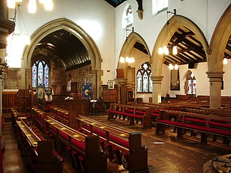 St Mary's Church, Penwortham - The Nave in 2008, before re-ordering
