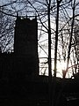 St Mary's church, Mold, in silhouette - geograph.org.uk - 298891.jpg