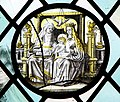 St Mary's church - grisaille glass roundel - geograph.org.uk - 1384552.jpg