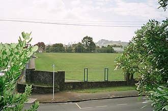 St Peter's College, Auckland - St Peter's College-The Cage Rugby field (former Brewery land), 2009.