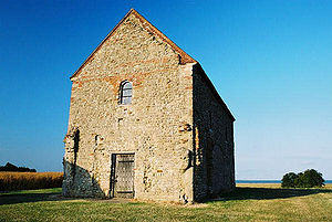 Sigeberht the Good - Chapel of St Peter-on-the-Wall, Bradwell-on-the-Sea today. Photo by Michael Rogers, 2002.