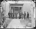 Staff, group of 4th Artillery, 5. Brig. Gen. Edwin V. Sumner, 3. Major Joseph C. Clarke, Jr., 1. Lieut. Alonzo H.... - NARA - 526385.tif