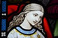 Stained glass window, St George's church, Brede (16041872868).jpg