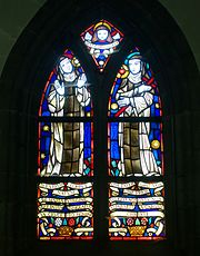 Stained glass window in the church - La Cambre Abbey - Brussels, Belgium - DSC07983.jpg