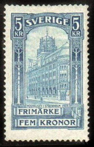Postage stamps and postal history of Sweden - A 1903 stamp of Sweden.