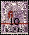 Stamp British Honduras 1891 6c on 10c on 4c.jpg