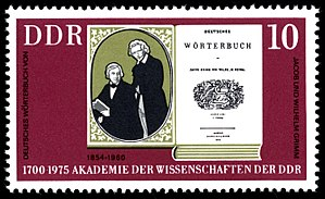 Deutsches Wörterbuch - East German commemorative stamp, 1975