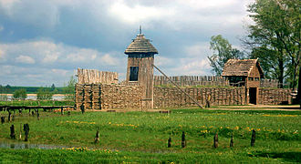 Biskupin - Another view of the fortified wall