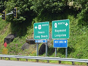 U.S. Route 101 in Washington - Start of US 101 in Washington.