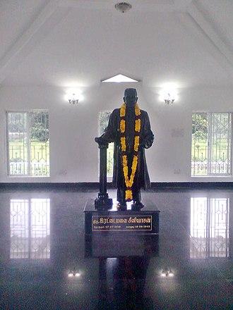 Rettamalai Srinivasan - Statue of Rettamalai Srinivasan, Gandhi Mandapam, Chennai