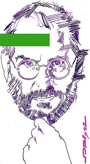Steve Jobs, portrait by italian artist Grazian...