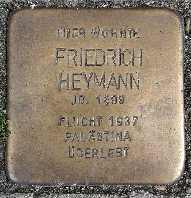 Stolperstein Emmerich Gasthausstraße 3 Friedrich Heymann