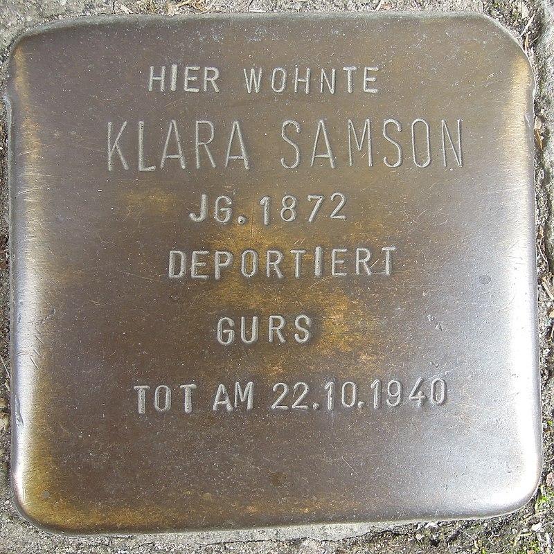 Stolperstein Neustadt an der Weinstraße Kurpfalzstraße 54 Klara Samson.jpg