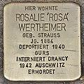 Stolperstein für Rosalie Wertheimer (Heidelberg).jpg