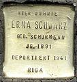Stolpersteine Köln, Erna Schwarz (Aachener Straße 28).jpg