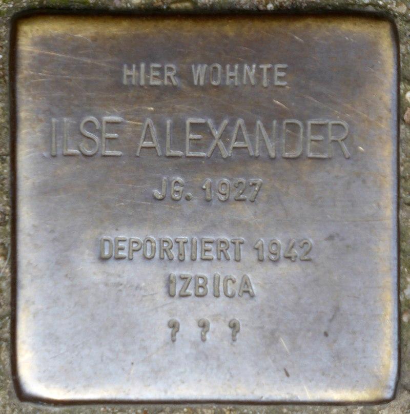 Stolperstein für Ilse Alexander (Rheinbabenstraße 106)