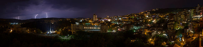 Storm, Night, Downtown Veliko Tarnovo.jpg
