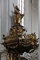 Straubing, Karmelitenkirche, Pulpit 007.JPG