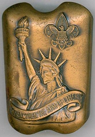 Strengthen the Arm of Liberty - Neckerchief slide