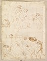 Studies for Apollo and Daphne, Zeus and Juno, Orpheus and Eurydice and other figures (recto and verso) MET DP820291.jpg