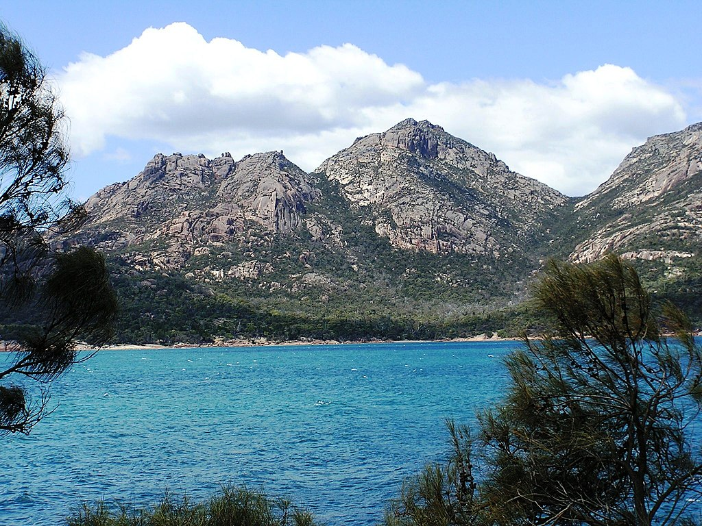Stunning granite mountains of the Freycinet National Park