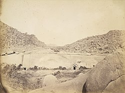 Sudama and Lomas Rishi Caves at Barabar, Bihar, 1870.jpg
