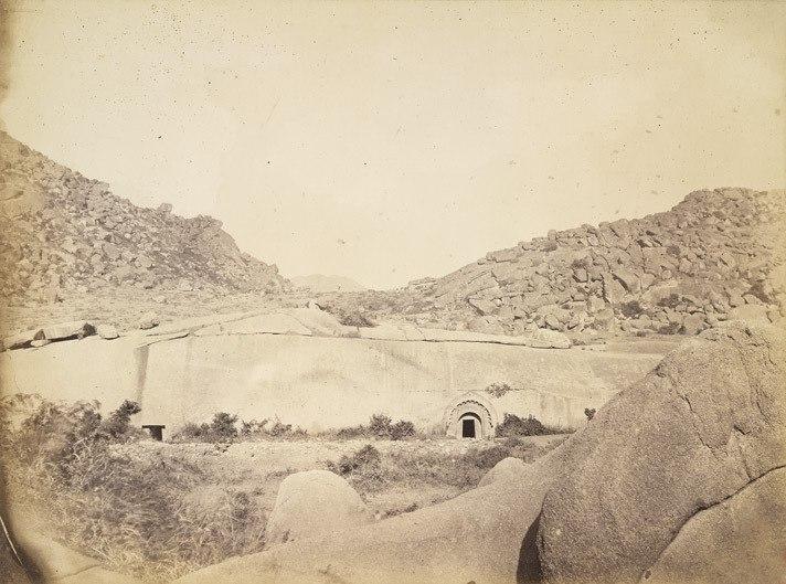 Sudama and Lomas Rishi Caves at Barabar, Bihar, 1870