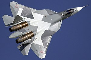 Sukhoi Su-57 - T-50 at the MAKS 2011 air show