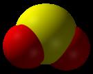 3D model molekuly SO2